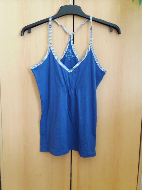 Nowa niebieska bokserka koszulka bawełna Bershka M 38 tanio