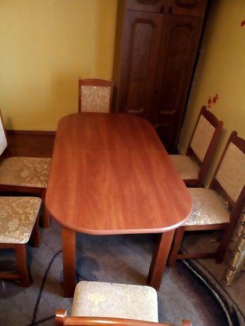 Stół 6 krzeseł