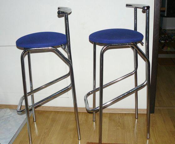Krzesła barowe 2szt. (hokery) chrom