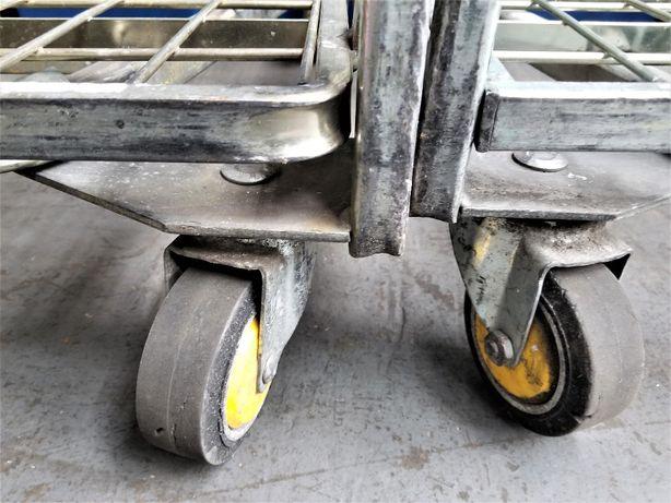 Wózek Transportowy Gniazdowy Kurierski Magazynowy Warsztat 80x67cm