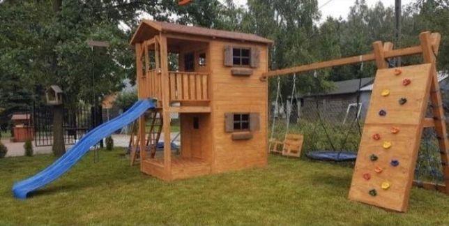 OKAZJA PRZEDSEZON Plac Zabaw Domek dla Dzieci huśtawka zjeżdżalnia