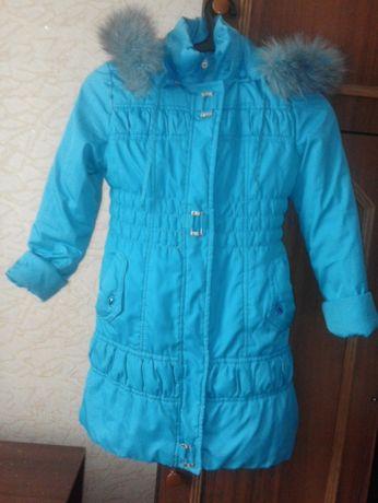 Зимнее пальто с подстёжкой пуховик девочка