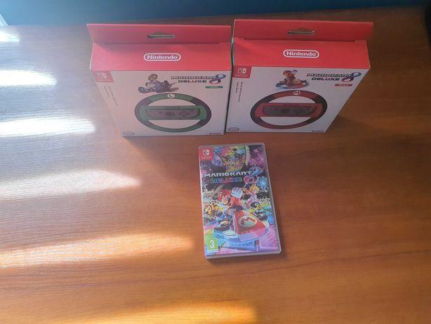 Mario Kart Deluxe 8 + 2 kierownice