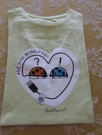 T-shirt Throttleman com joaninhas