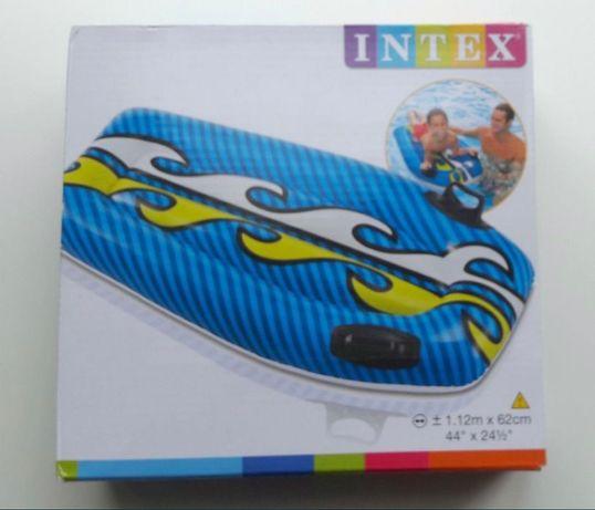 Dmuchana deska do pływania INTEX, czerwona lub niebieska, nowa