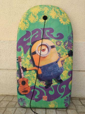 Prancha Bodyboard para criança Minion