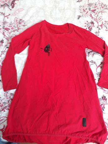 Czerwona tunika sukienka r. S