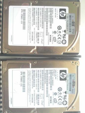 продам сас диски парами по 146 gb и по 76 gb sas hp на фото ssd hhd