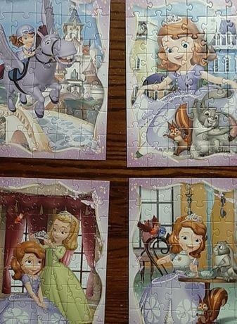 puzzle 4 w 1 - Sofia the First - Wesoły Dzień Zosi!