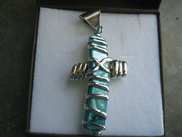 Pendente Crucifixo envolto em prata(NOVO)
