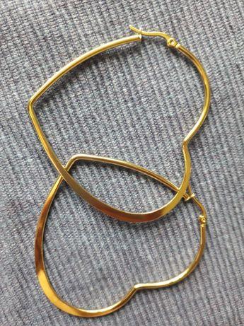 Kolczyki Duże Serca Stal Chirurgiczna