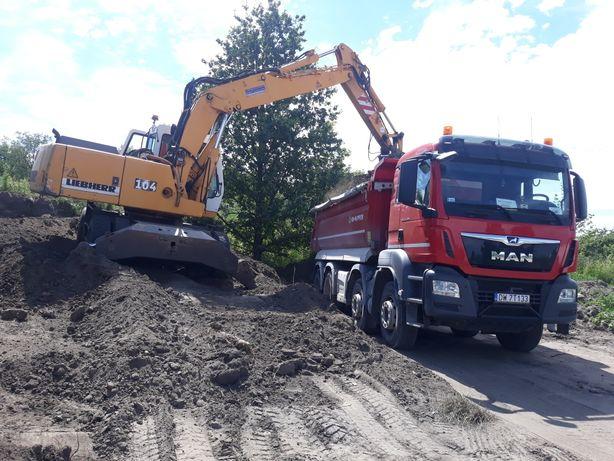Transport i sprzedaż kruszyw Wrocław piasek żwir gruz ziemia ogrodowa