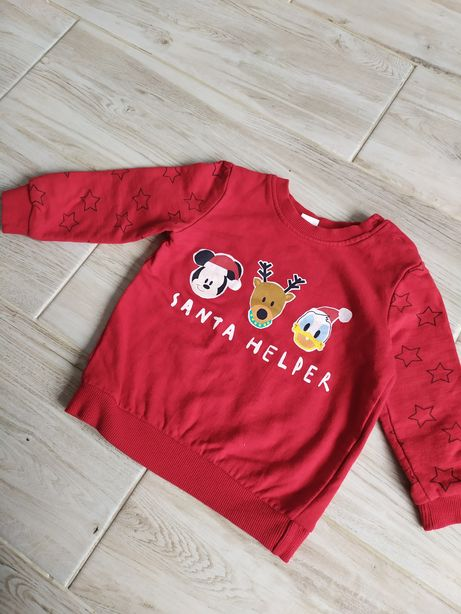 Bluza świąteczna zimowa 86 12-18 miesięcy Disney