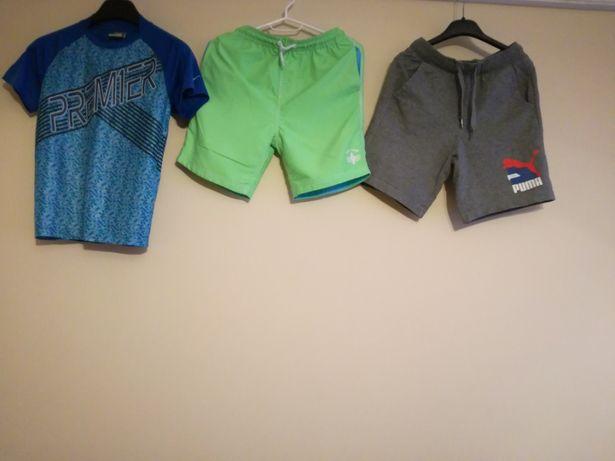 Mini zestaw SpodenkiNext koszulka Nike spodenki Puma 140cm na chłopca