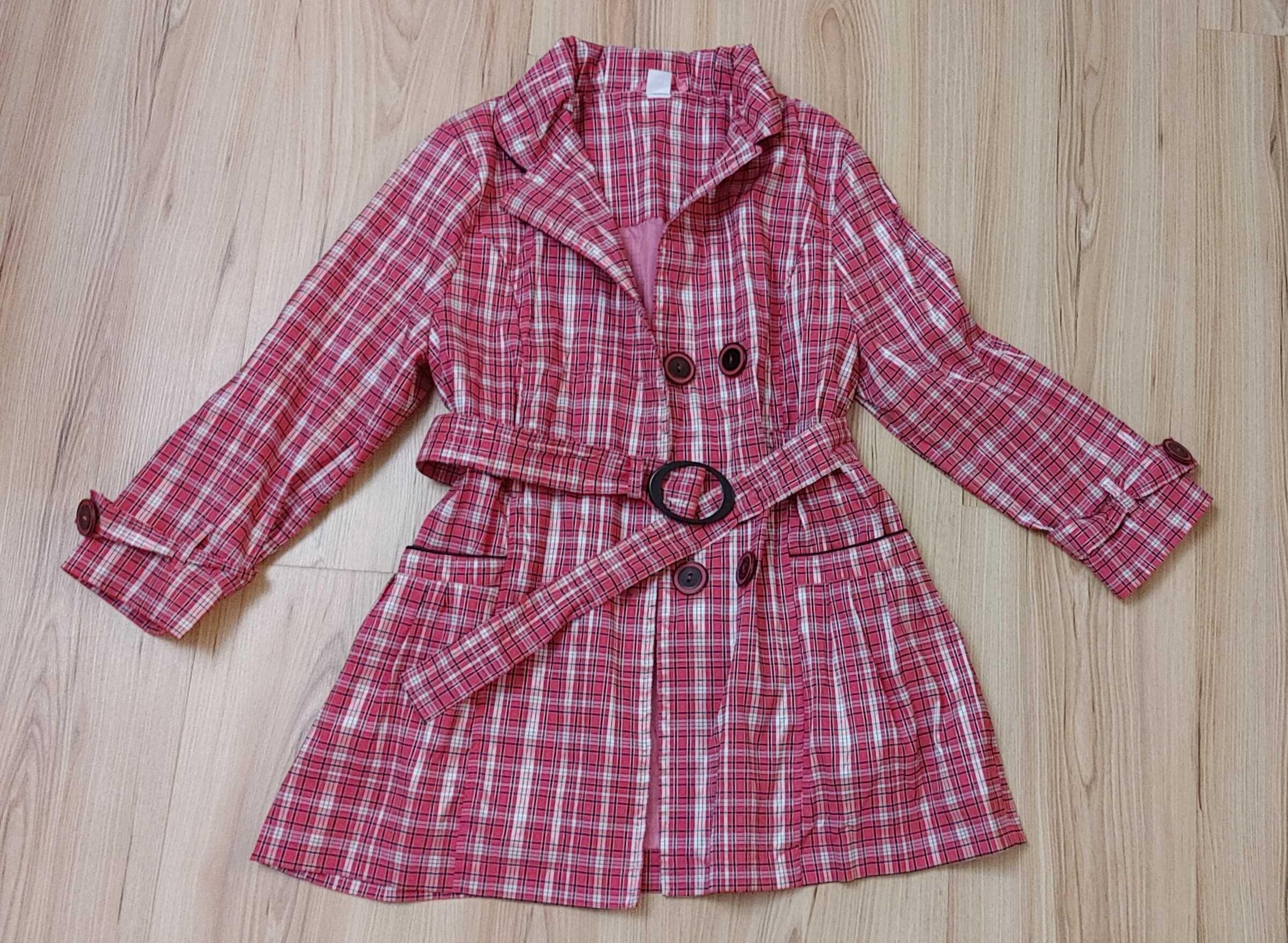 Elegancki płaszczyk wiosenny r. 140 cm