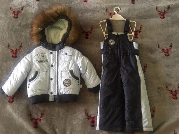 Зимний комплект куртка+полукомбинезон р.86