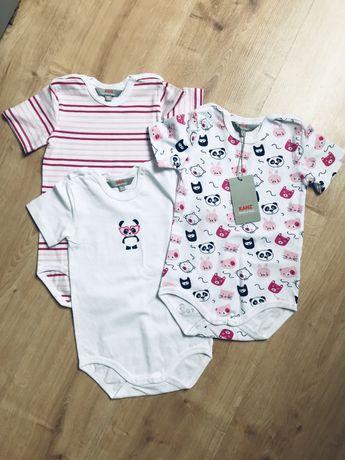 Body niemowlece 3 sztuki komplet rom 80