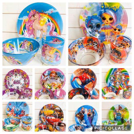 Детский набор посуды (Дитячий посуд) подарунок дитині