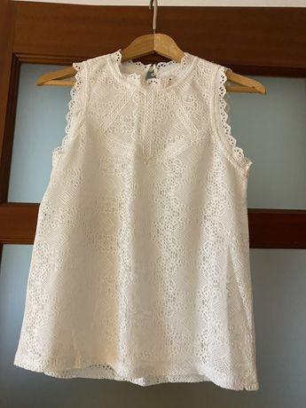 Bluzka biała New Look koronkowa