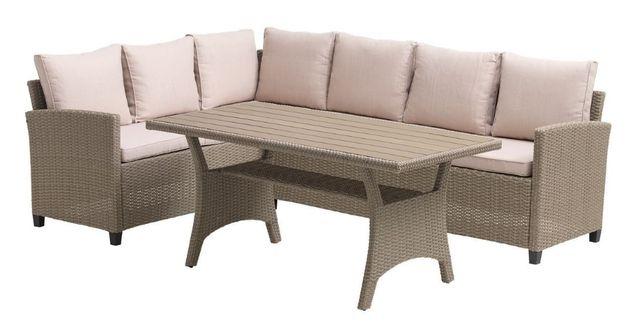 Набор садовой мебели из искусственного ротанга диван +стол Польша