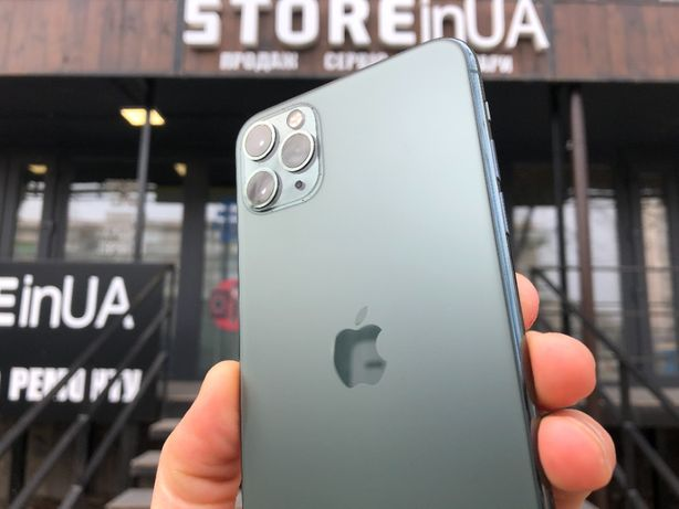 Идеал iPhone 11 PRO MAX 64GB Midnight Green. Гарантия 3 мес. Рассрочка