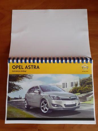Instrukcja obsługi Opel Astra H,nowa,format A4