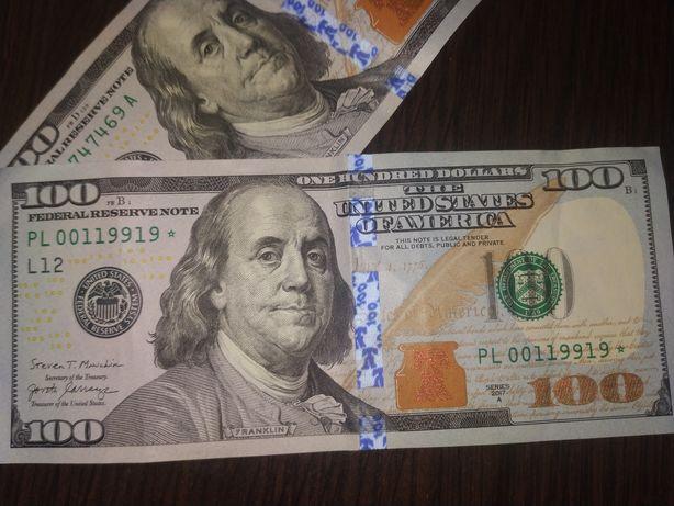Редкие 100 долларов со звездой