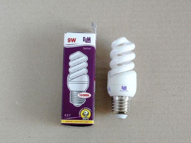 Лампа энергосберегающая, экономка ELM 9 W / 9 Вт Е27 4000К новая