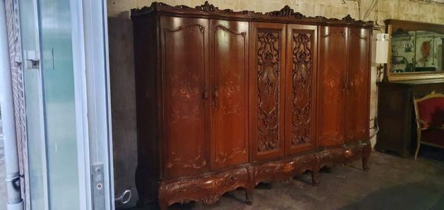 Szafa garderoba stylowa orzech antyk barok malowana rzeźb
