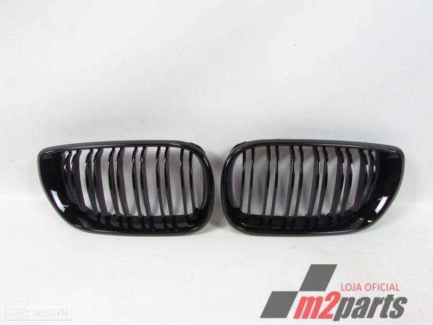 Grelhas Duplas 2ª Fase Preto Brilhante Novo/ ABS BMW/3 (E46)/318 i | 02.98 - 09....