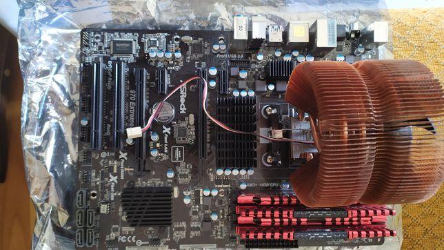 Motherboard AS Rock + AMD FX-8320+ 16 Gb memoria +SSD 500gb samsung
