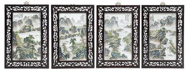 4 Placas Suspensão Porcelana Chinesas