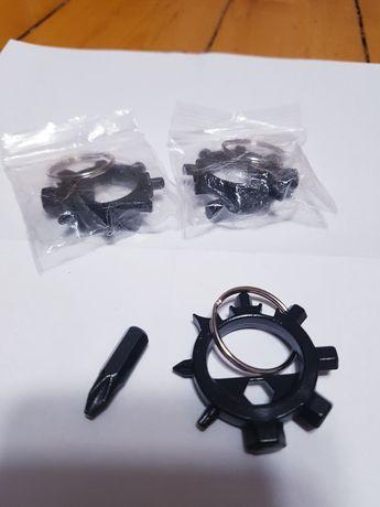 Multitool 10w1 brelok/breloczek z metalu.imbus do roweru. Centrowanie