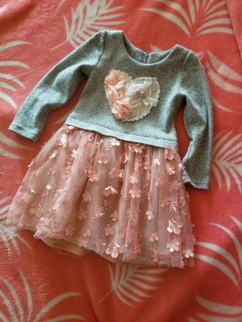 Тепле пишне плаття платье із сумочкою на дівчинку 1,5-3роки