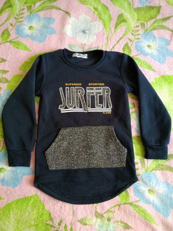 свитер, свитшот с начесом на 5-6 лет