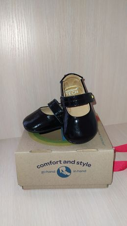 Кожаные туфельки (пинетки) американского бренда Umi для девочки, 18 р