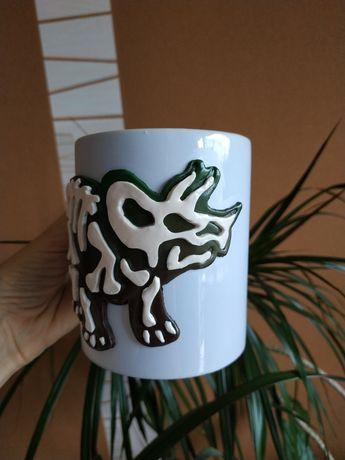 Чашка с динозавром