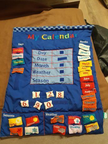 Развивающая мягкая доска my calendar для уроков английского