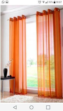 Dekoracyjne zasłony/firany orange