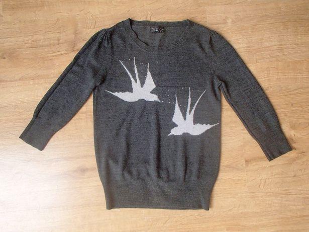 sweter S sweterek Top Shop bluzka z jaskółkami 158