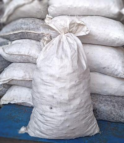 Мешок/мешки полипропиленовые б.у. на 50кг для фасовки брикета, угля
