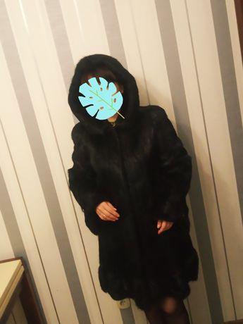 Шуба нутриевая чёрная