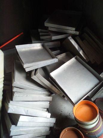 Blacha aluminiowa taca kuweta karmnik jak papier dla piskląt drób