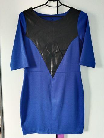 Платье вставка экокожа