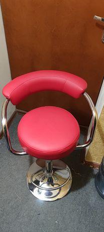 Кресло стул барный высокое хокер для салона красоты макияж