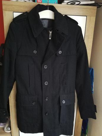 Płaszcz, płaszczyk męski jesienny, zimowy, z podszewka