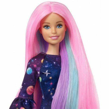 Кукла Barbie Цветной сюрприз с розовыми волосами