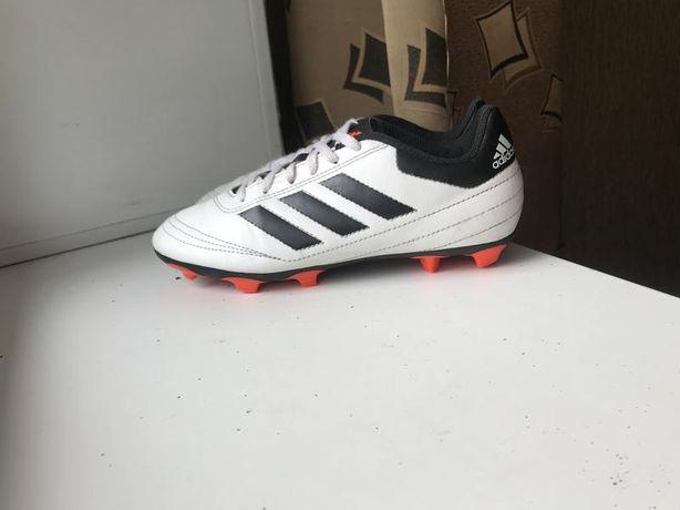 Білі копки adidas бутси сороконожки футзалки кросовки для футболу