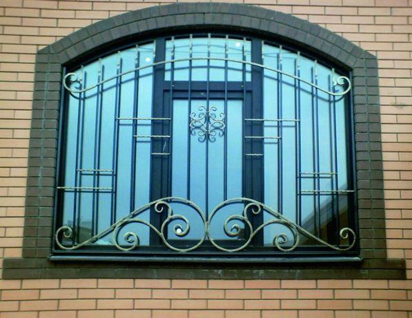 Решетки на окна, балкон, двери - Кованые, Сварные. Установим. Доставим