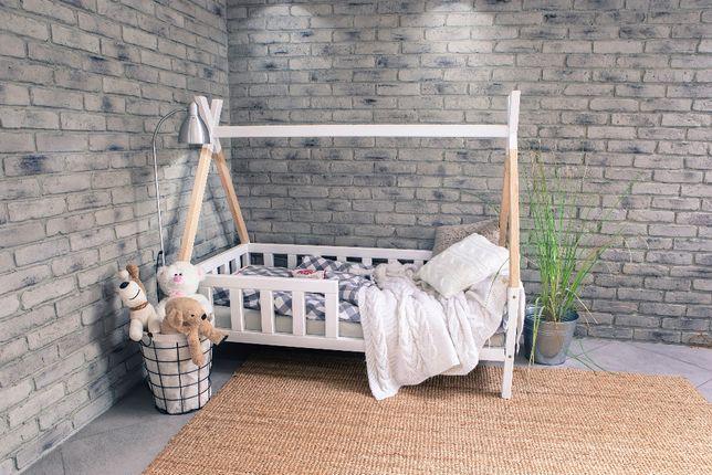 Łóżko dziecięce DOMEK TIPI dwukolorowe